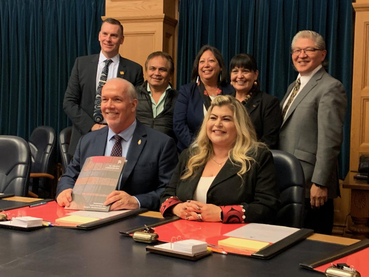 Treaty Commission meets with Premier Horgan November 2019
